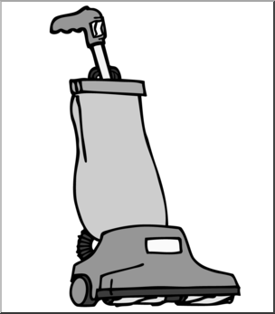Clip Art: Vacuum Cleaner Grayscale I abcteach.com.