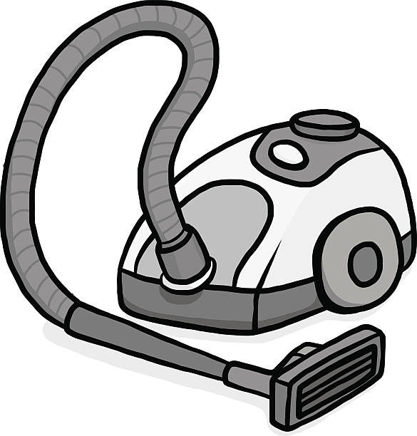 Cartoon Vacuum Cleaner Clipart.