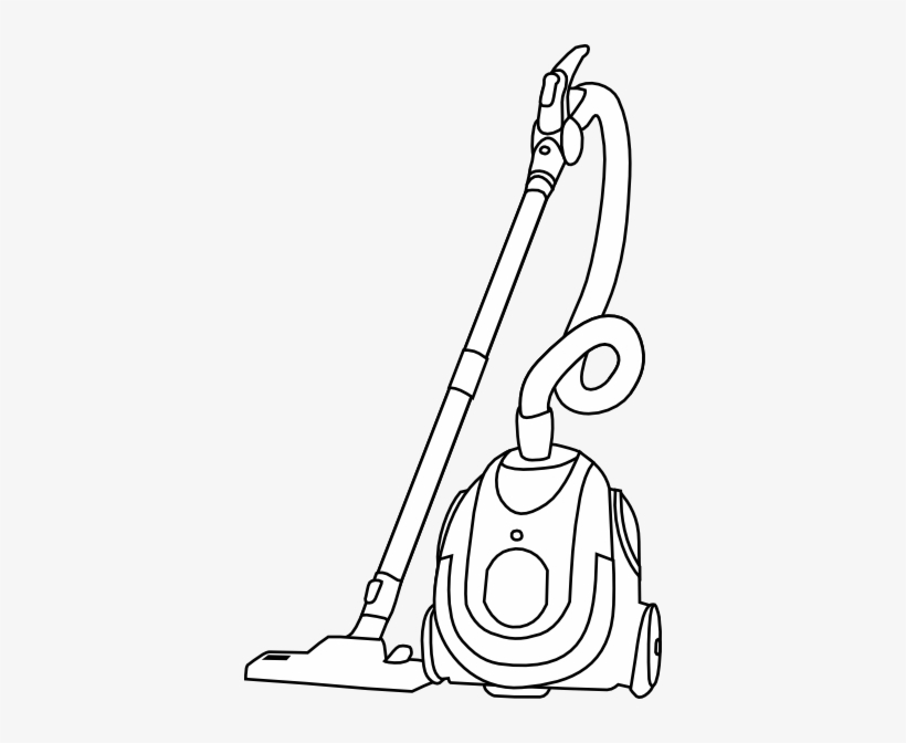 Vacuum Cleaner Clipart Black And White.