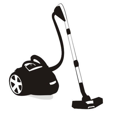 Free Silhouette Black & White Vacuum Cleaners Clipart and.