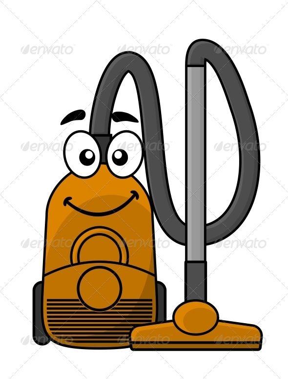 Cartoon Vacuum Cleaner.