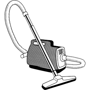 Vacuum clipart black and white.