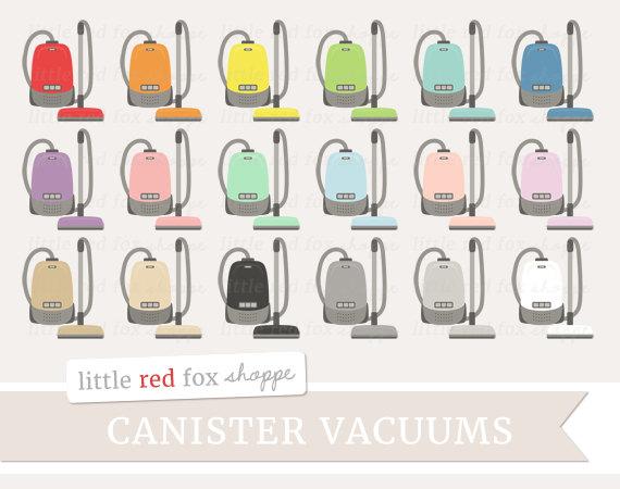 Canister Vacuum Clipart, Vacuum Cleaner Clip Art Vintage Antique.