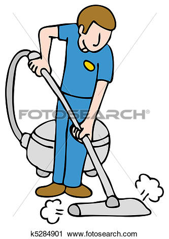 Clipart of Professional Rug Cleaner k5284901.