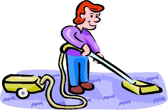 vacuum the carpet clip...