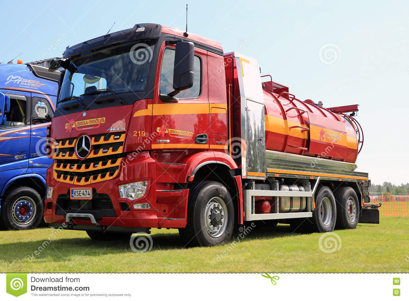 A Vacuum Truck Royalty Free Stock Photos.