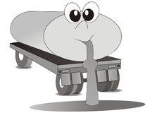 Funny Tank Truck Stock Vector.