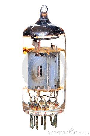 Vacuum Tube Stock Photo.