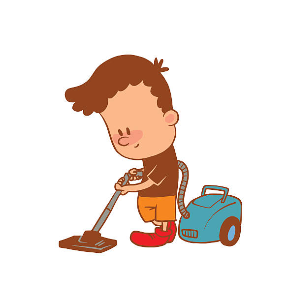 Vacuuming clipart boy.
