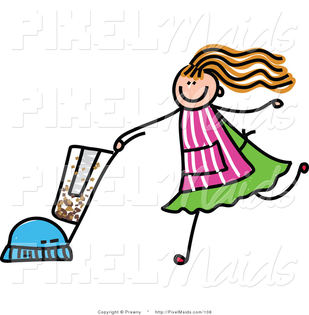 Royalty Free Stock Maid Designs of Vacuums.