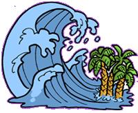 Cartoon blue sea wave splash on white background, for ... |Vague Clipart