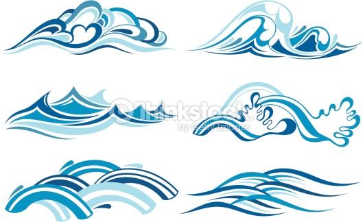 Ocean/ Sea Waves Vector - Download Free Vectors, Clipart ... |Vague Clipart
