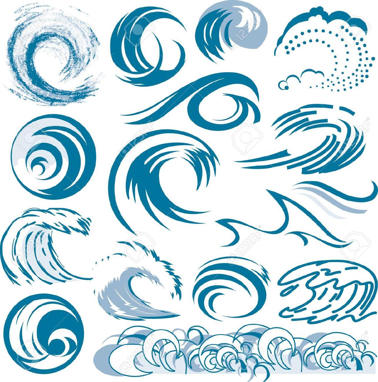 Best Ocean Wave Illustrations, Royalty-Free Vector ... |Vague Clipart
