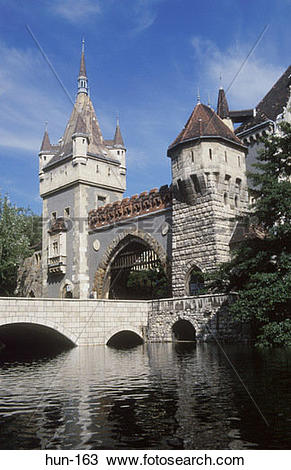 Stock Photo of Vajdahunyad Castle Budapest Hungary hun.
