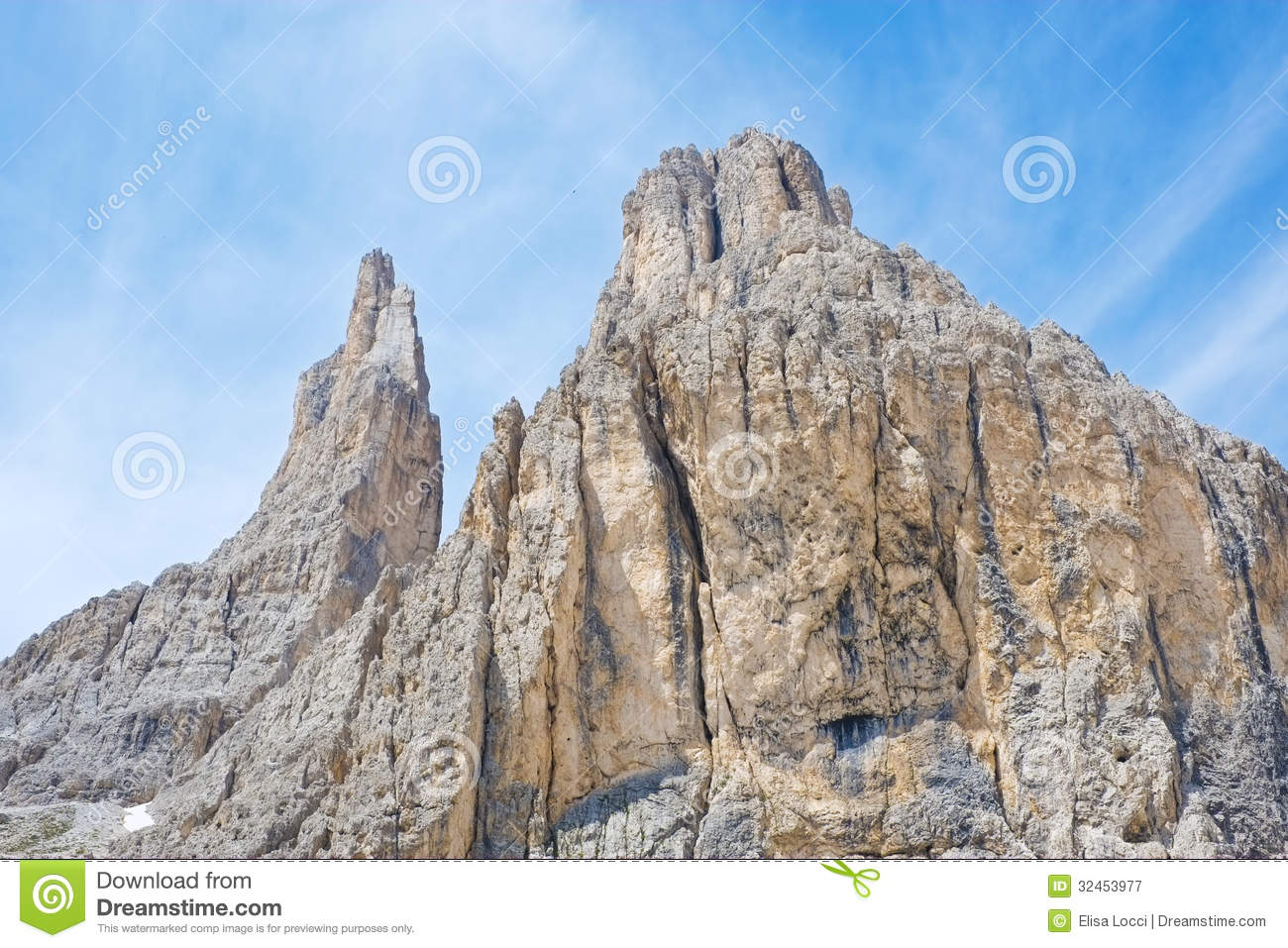 Vajolet Towers In Dolomites Royalty Free Stock Photography.