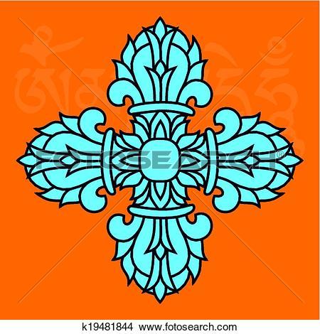 Clipart of Sacred buddhist religious symbol.