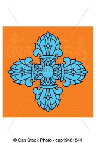 Vectors of Vajra symbol, shade picture csp35770935.
