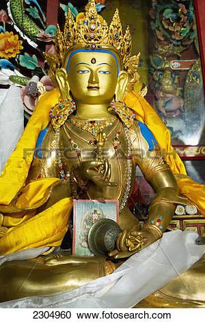 Stock Photography of India, Tashiding Monastery; West Sikkim, Gold.
