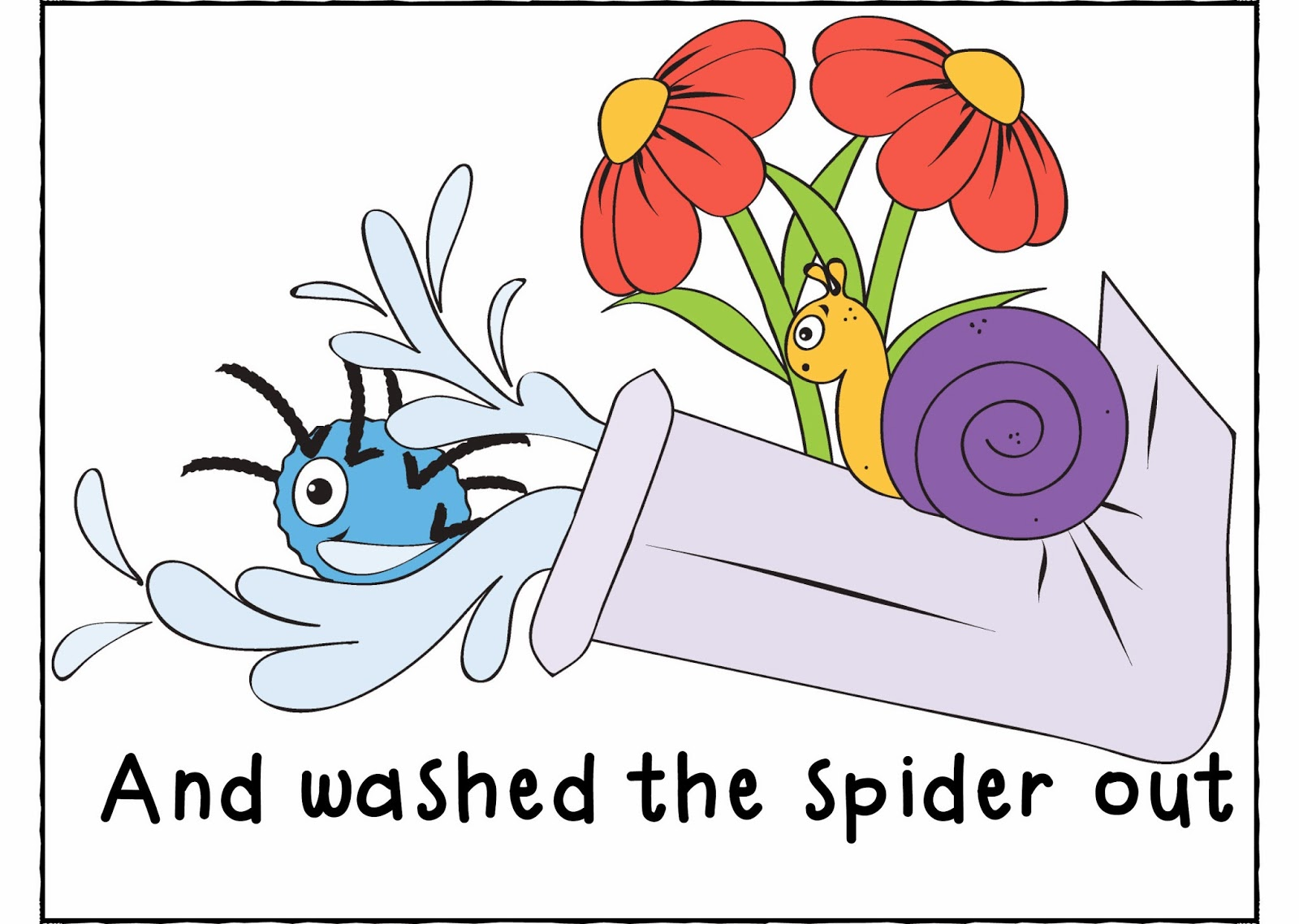 Incy wincy spider clipart.