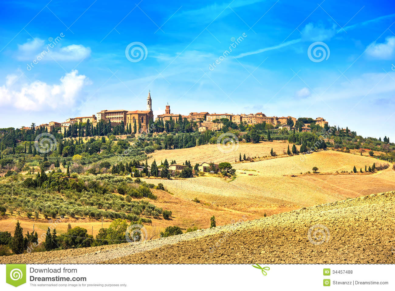 Tuscany, Pienza Medieval Village. Siena, Val D Orcia, Italy.