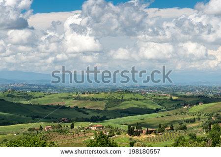 Orcia Tuscany Val D Stock Photos, Royalty.