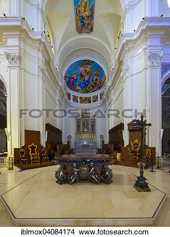 Stock Photo of Altar of the baroque church, Cathedral of San.