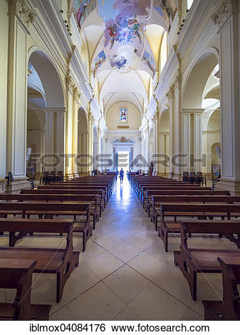 Stock Images of Interior of the baroque church, Cathedral of San.