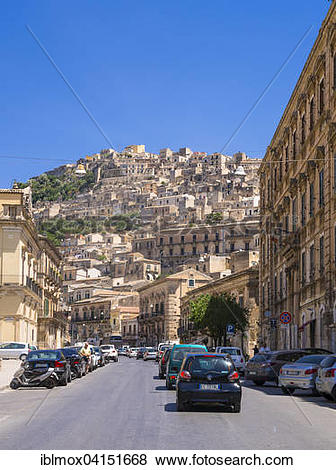Pictures of Townscape, Val di Noto, UNESCO World Heritage Site.