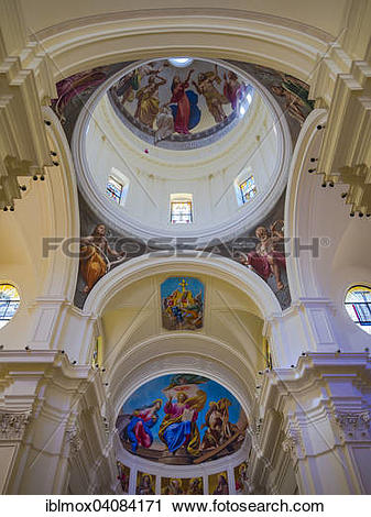 Stock Photography of Dome of the baroque church, Cathedral of San.