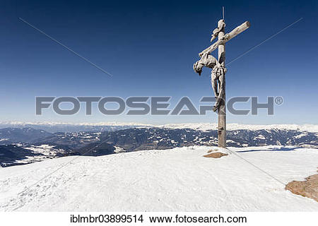 "Stock Photo of ""Summit cross on the Raschotz or Rasciesa mountain."