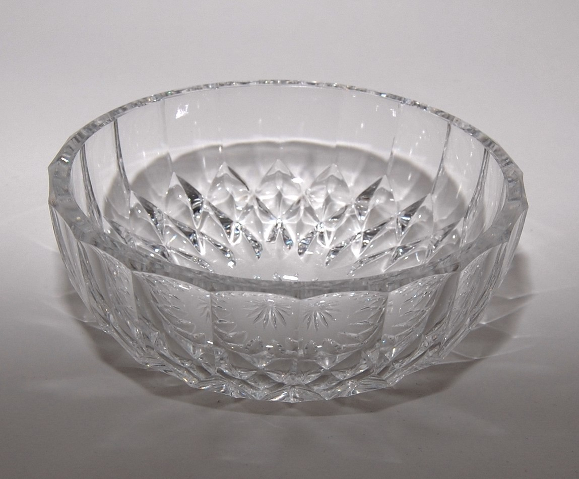 Val St Lambert Crystal Finger Bowl Nicolle Pattern by Abundancy.