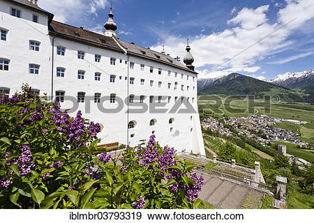 "Stock Photograph of ""Marienberg Abbey in Alta Val Venosta."