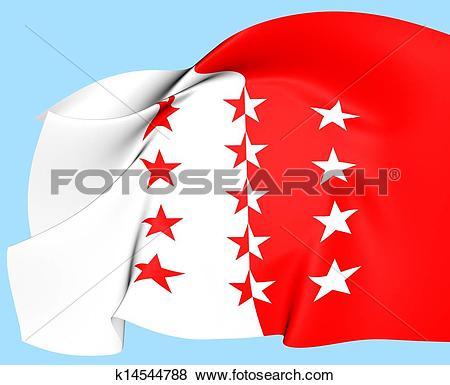 Stock Illustration of Flag of Valais, Switzerland. k14544788.
