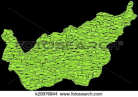 Clipart of Map of The Canton of Valais k20976844.