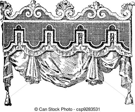 Vector Clip Art of Valance, vintage engraving..