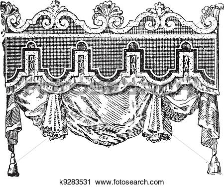 Clipart of Valance, vintage engraving. k9283531.