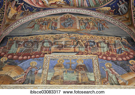 "Picture of ""Wall paintings in Horezu Monastery, Horezu, Valcea."