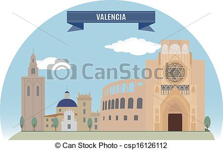 Vector Clip Art of Valencia.