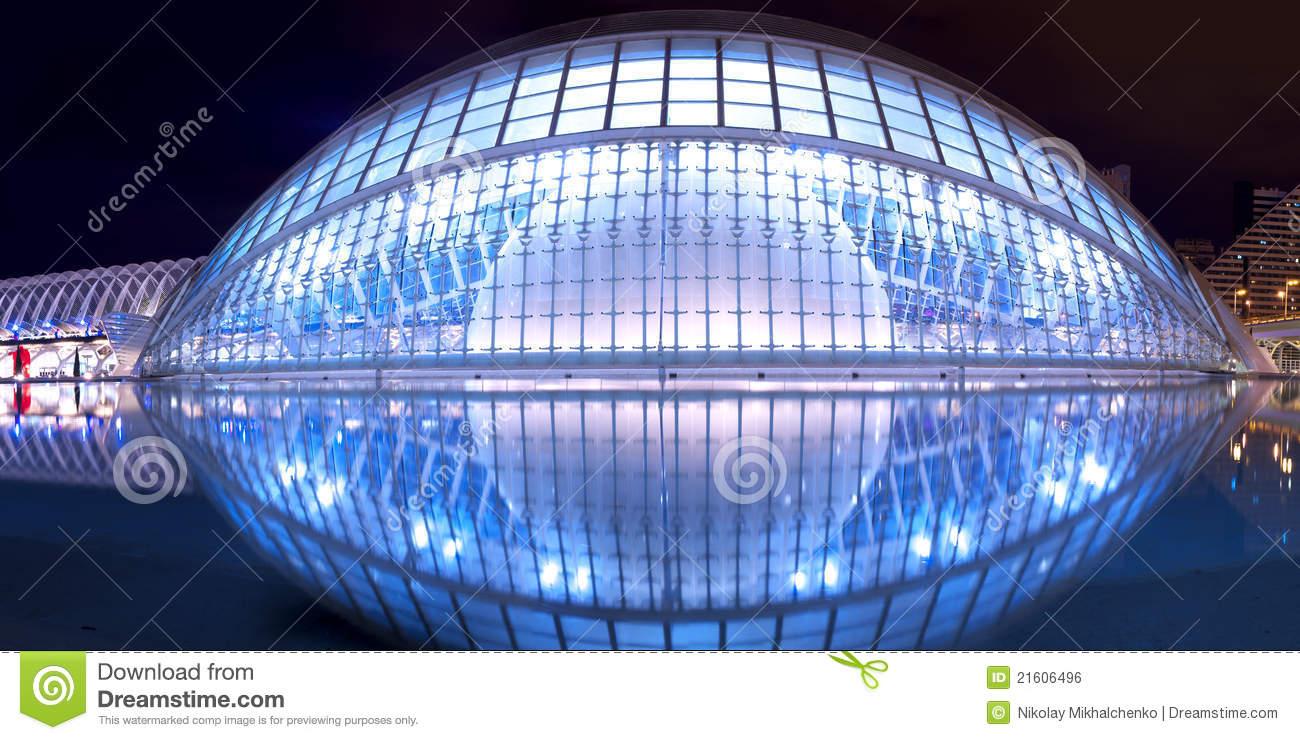 Hemisferic Planetarium In Valencia Editorial Photo.