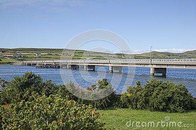 Bridge To Valentia Island From Portmagee Stock Photo.