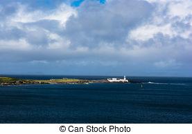 Stock Photography of Lighthouse on Valentia Island; Ireland.