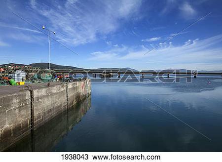 Stock Photo of Bridge To Valentia Island And Fishing Harbor.