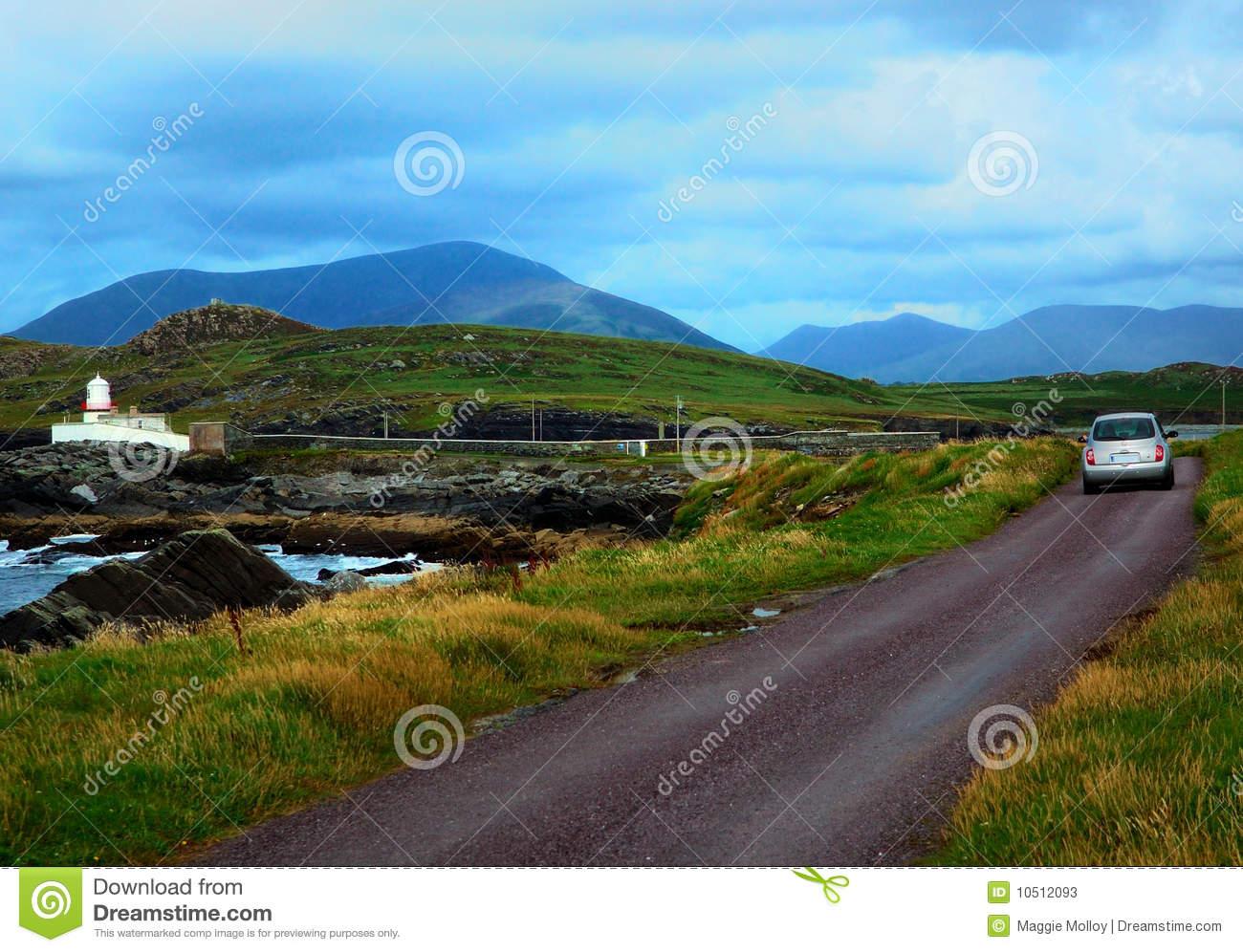 Valentia Island Lighthouse, Kerry, Ireland Stock Photos.