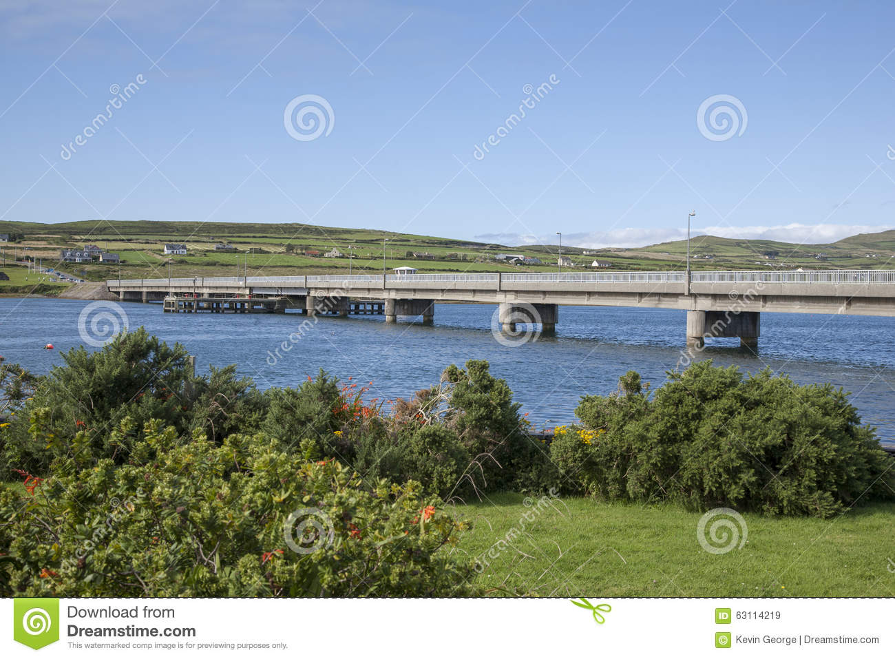 Bridge To Valentia Island From Portmagee Stock Photo.