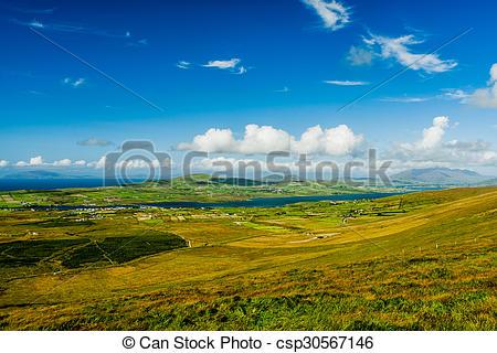 Stock Photo of Valentia Island panoramic.
