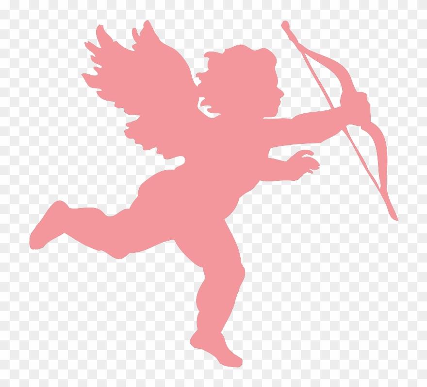 Pink Valentines Day Cupid, Valentine Clipart Red.