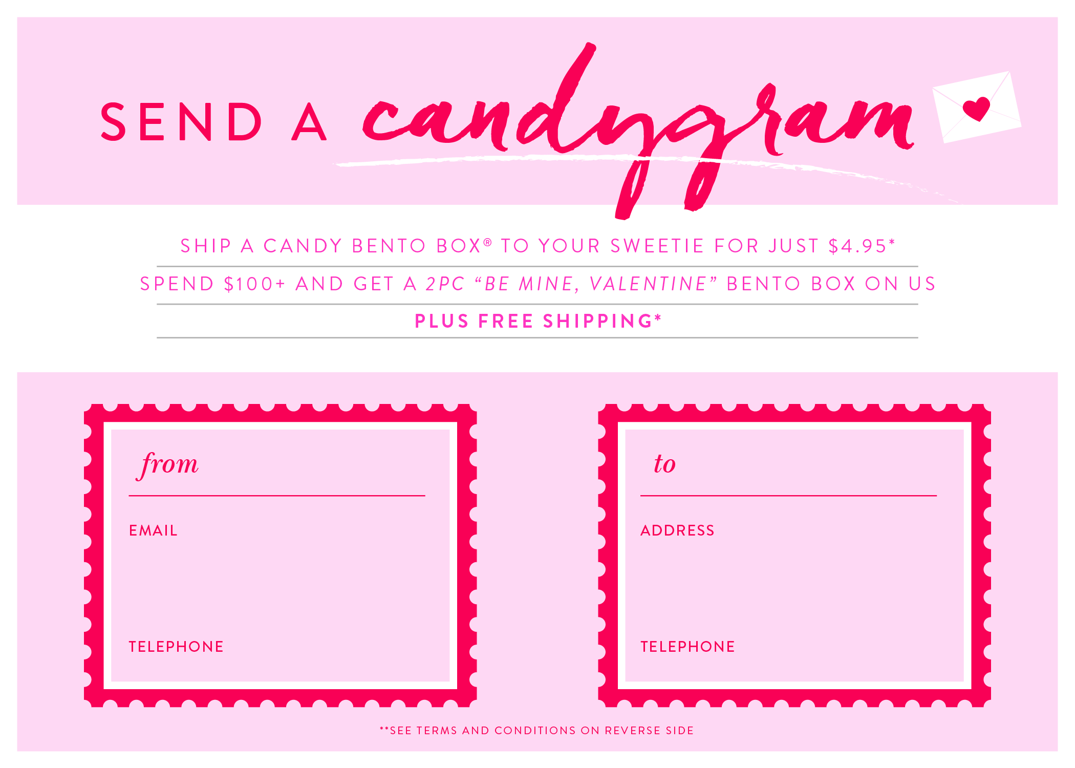 Printable Valentines Candy Grams.
