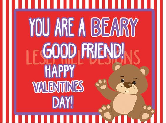 Gummy Bear Teddy Gram CANDY GRAM Printable by LeslisDesigns.