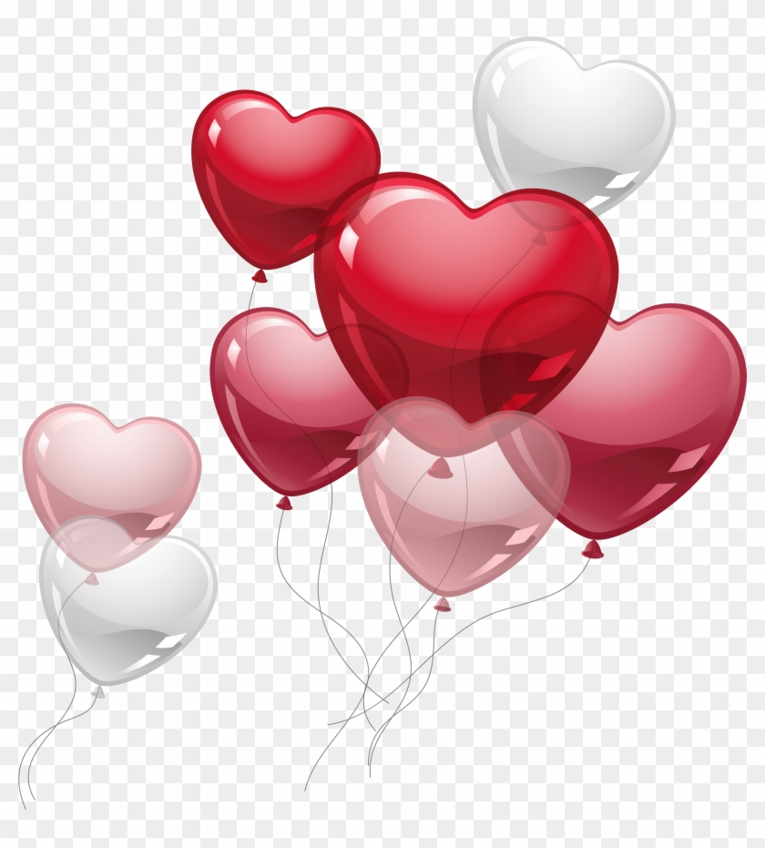 Valentine Balloons Cute Heart Png Picture.