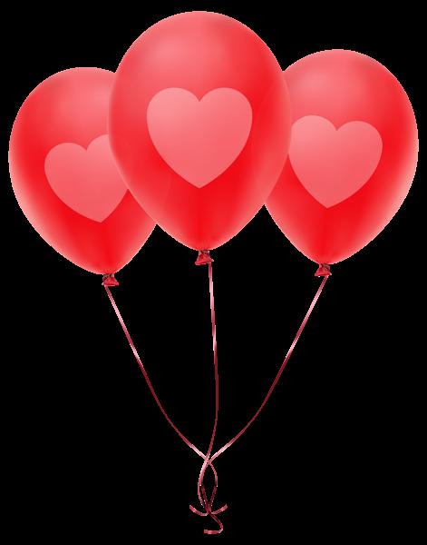 Valentine Balloons Clipart.